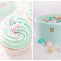 Meow Baby - Bollhav med 250 Bollar - Cupcake - 40 Cm