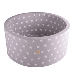 Meow Baby - Bollhav - Light Grey Stars - 40 Cm