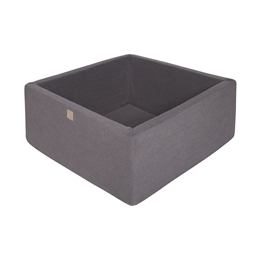 Meow Baby - Bollhav - Dark Grey Square - 110x110x40 Cm
