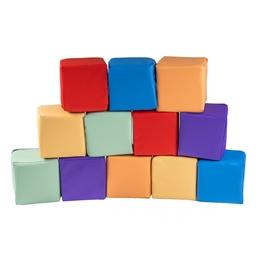 Meow Baby - Byggkuddar 12 st Foam Blocks - Color