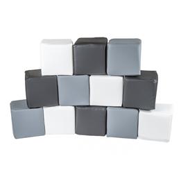 Meow Baby - Byggkuddar 12 st Foam Blocks - Zebra