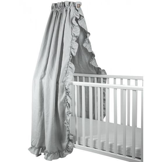 NG Baby - Sänghimmel Volang - Ljusgrå