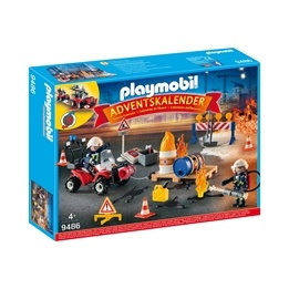 Playmobil, City Action - Adventskalender Brandmän