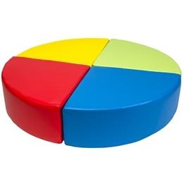 PQP - Byggkuddar - 4-stycken - Gul, Blå, Röd och Grön
