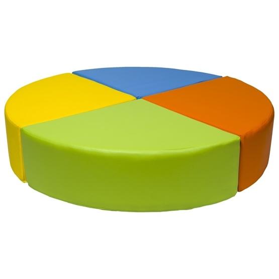 PQP - Byggkuddar - 4 stycken - Gul, Blå, Orange och Grön