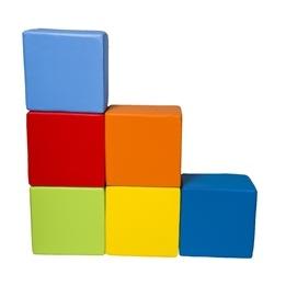 PQP - Byggkuddar - 6-stycken fyrkantiga