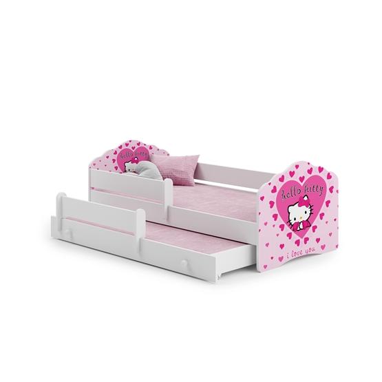 Barnsäng - Fala Med Madrass, Skyddskant Och Extrasäng - Hello Kitty
