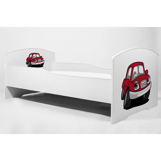 Barnsäng - Luk Med Madrass Och Extrasäng Red Car