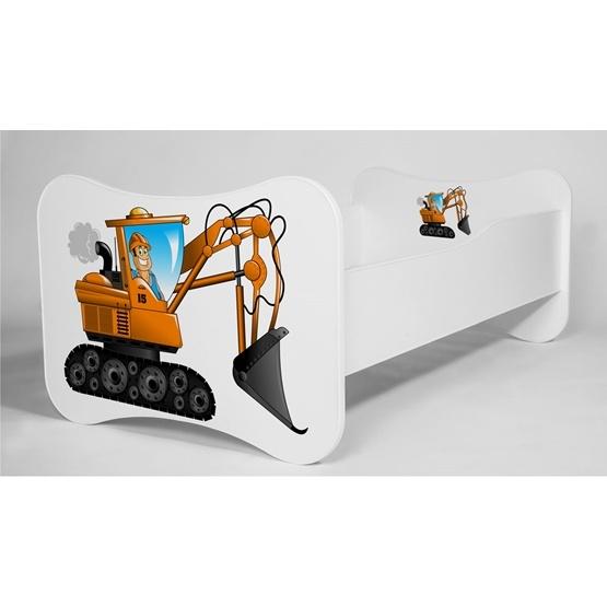 Barnsäng - Mati Med Madrass Och Extrasäng - Small Excavator