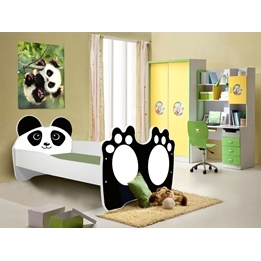 Barnsäng - Panda Med Madrass