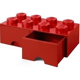 LEGO Förvaringsbox 8 med lådor (Röd)