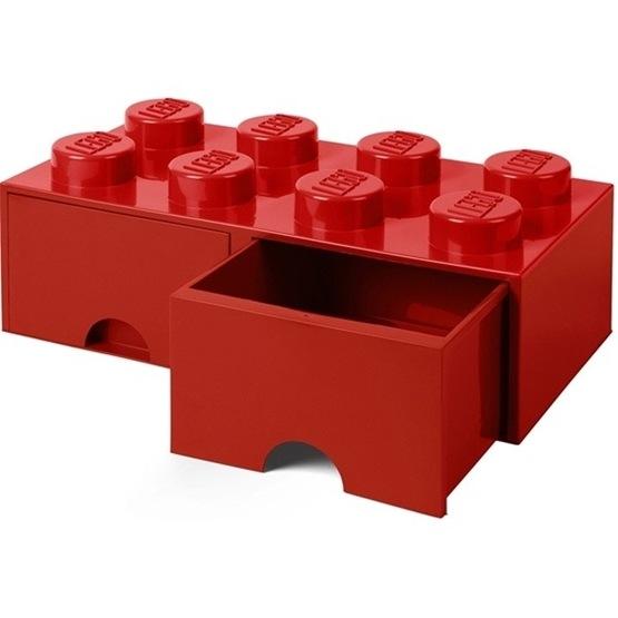 LEGO, Förvaringsbox 8 med lådor, Röd