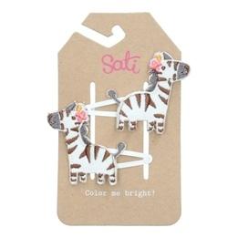 Sati Zebra Snap Clip