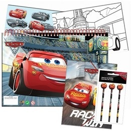 Disney Cars 3, Skolstartskit - mapp, pennor & sketchbook