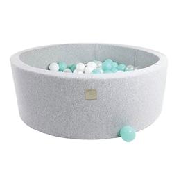 Meow Baby - Bollhav - Ljusgrå - Mint/Pärlvit/Vita Bollar