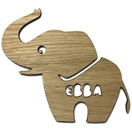Väggdekoration Figurskylt Elefant