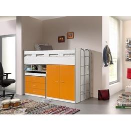 Loftsäng m. skrivbord och förvaringsskåp- Bonny 70 - Orange