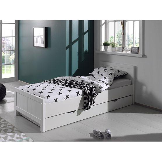 Säng - Erik 90x200 Cm - Vit
