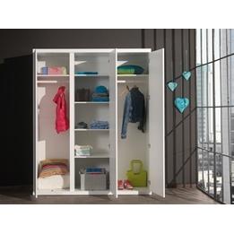 Garderob - Lara - 3 Dörrar - Vit