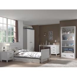 Säng - Lewis - 90x200 Cm - Vit