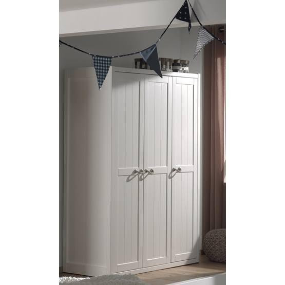 Garderob - Lewis - 3 Dörrar - Vit