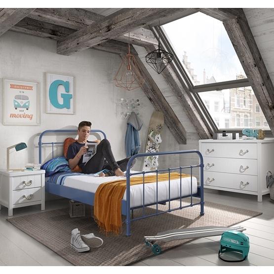 Säng - New York - 120x200 Cm - Blå