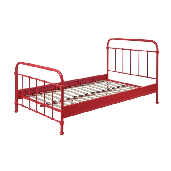 Säng - New York - 120x200 Cm - Röd