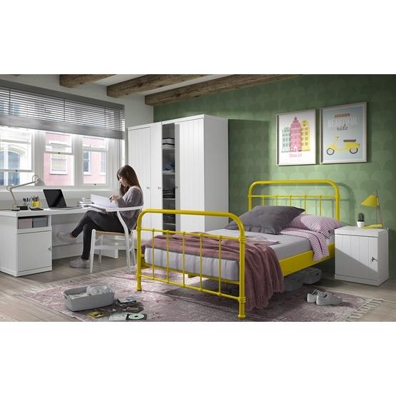 Säng - New York - 120x200 Cm - Gul