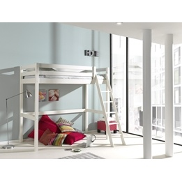 Loftsäng - Pino Mezzanine 90-200 Cm - Vit