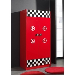 Garderob - 2 Dörrar Monza - Röd