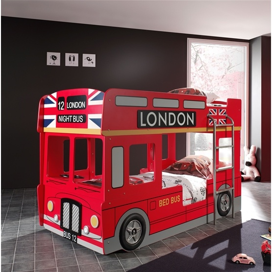 Våningssäng - London Bus 90x200 Cm
