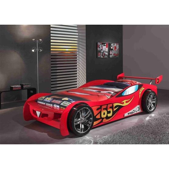 Enkelsäng - Bilsäng 90x200 Cm - LEMANS - Röd