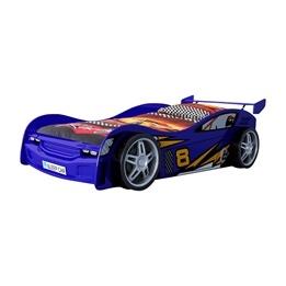 Enkelsäng - Bilsäng Night Racer 90x200 Cm - Blå