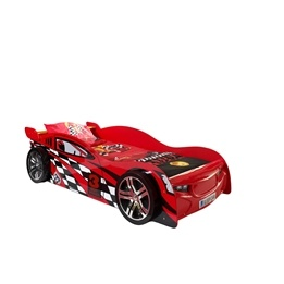 Enkelsäng Och Garderob - Bilsäng Night Speeder - Röd