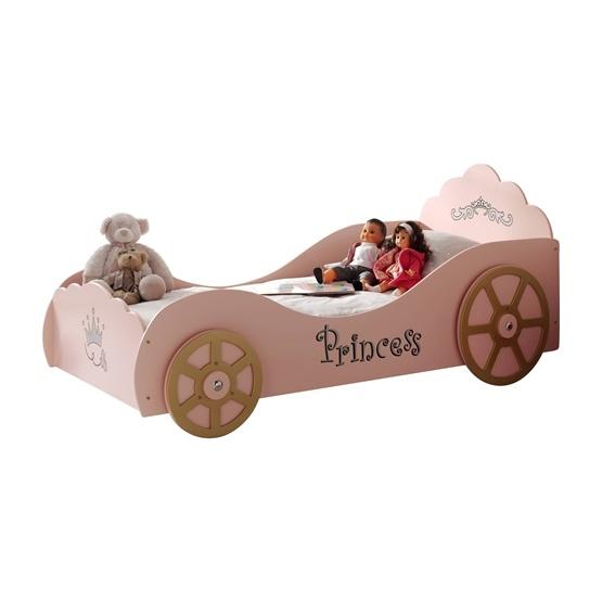 Enkelsäng - Bilsäng 90x200 Cm - PRINCESS PINKY - Rosa