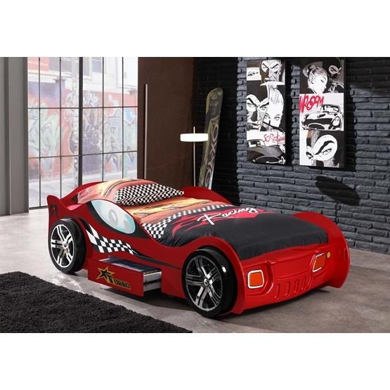 Enkelsäng - Bilsäng TURBO RACING 90x200 Cm - Röd