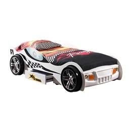 Enkelsäng - Bilsäng TURBO RACING 90x200 Cm - Vit