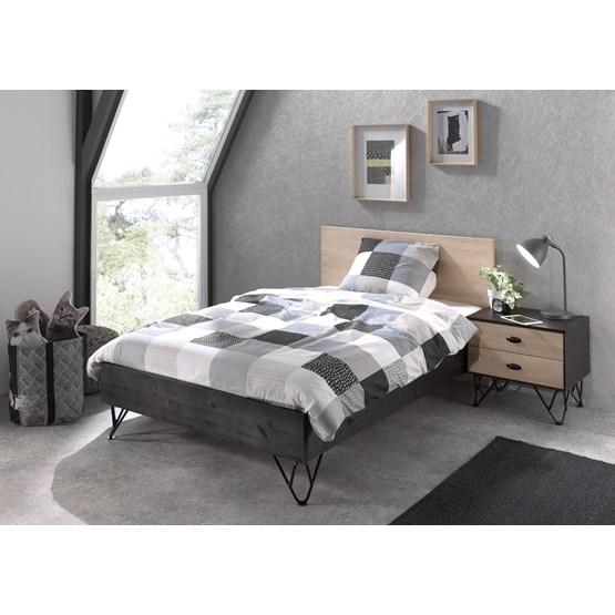 Säng Med Sängbord - William 120x200 Cm - Brun