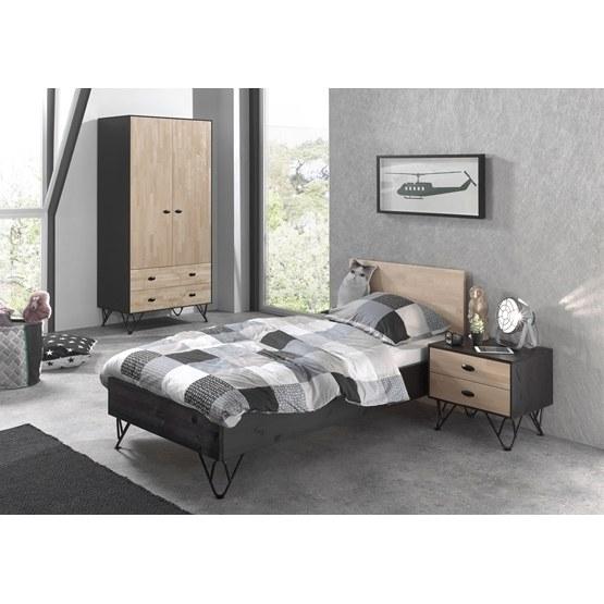 Garderob - William - 2 Dörrar - Brun