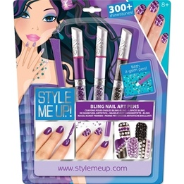 Style Me Up, Nagelpennor bling Lila