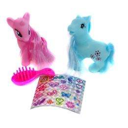 Beauty Horse, Ponny med borste 2-pack - rosa