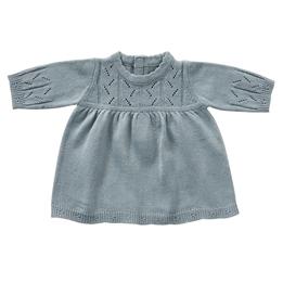byASTRUP, Dockkläder - Long Sleeve Dress Blue Knit 30-35 cm