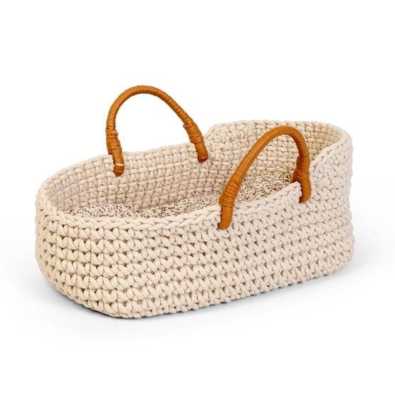 byASTRUP, Docktillbehör - Knitted Doll Basket 50 cm