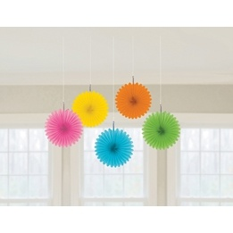 Hängande pappersdekor, regnbågsfärgad, 15 cm, 5 st
