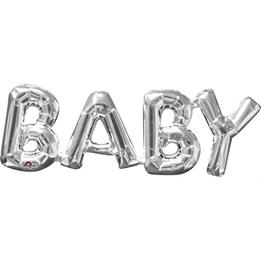 Ballong Baby Silver 66x22cm