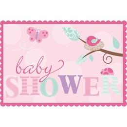 Tweet Baby Girl, Inbjudnignskort, 8 st
