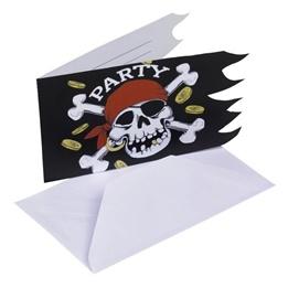 Jolly Roger, Inbjudnignskort, 6 st