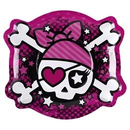 Pink Pirate, Figurformad Tallrik, 6 st