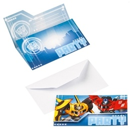 Transformers Indbjudningskort 8-pack