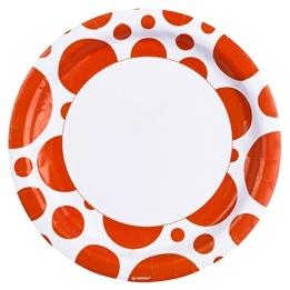 Orangea prickar, Tallrik, 23 cm, 8 st
